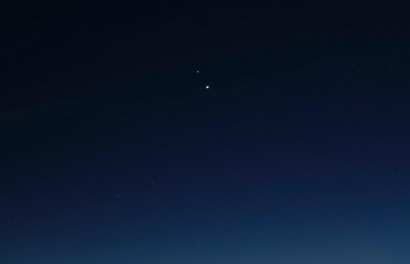 Conjunción entre Júpiter y Saturno