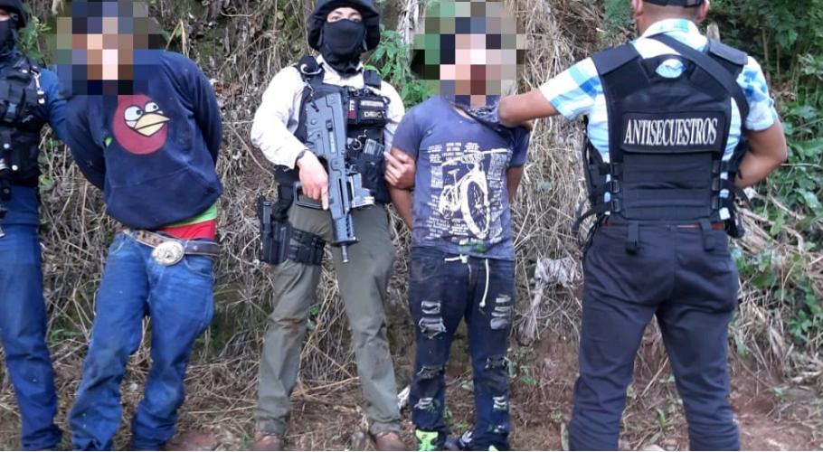 rescatan a víctima de secuestro en Huehuetenango