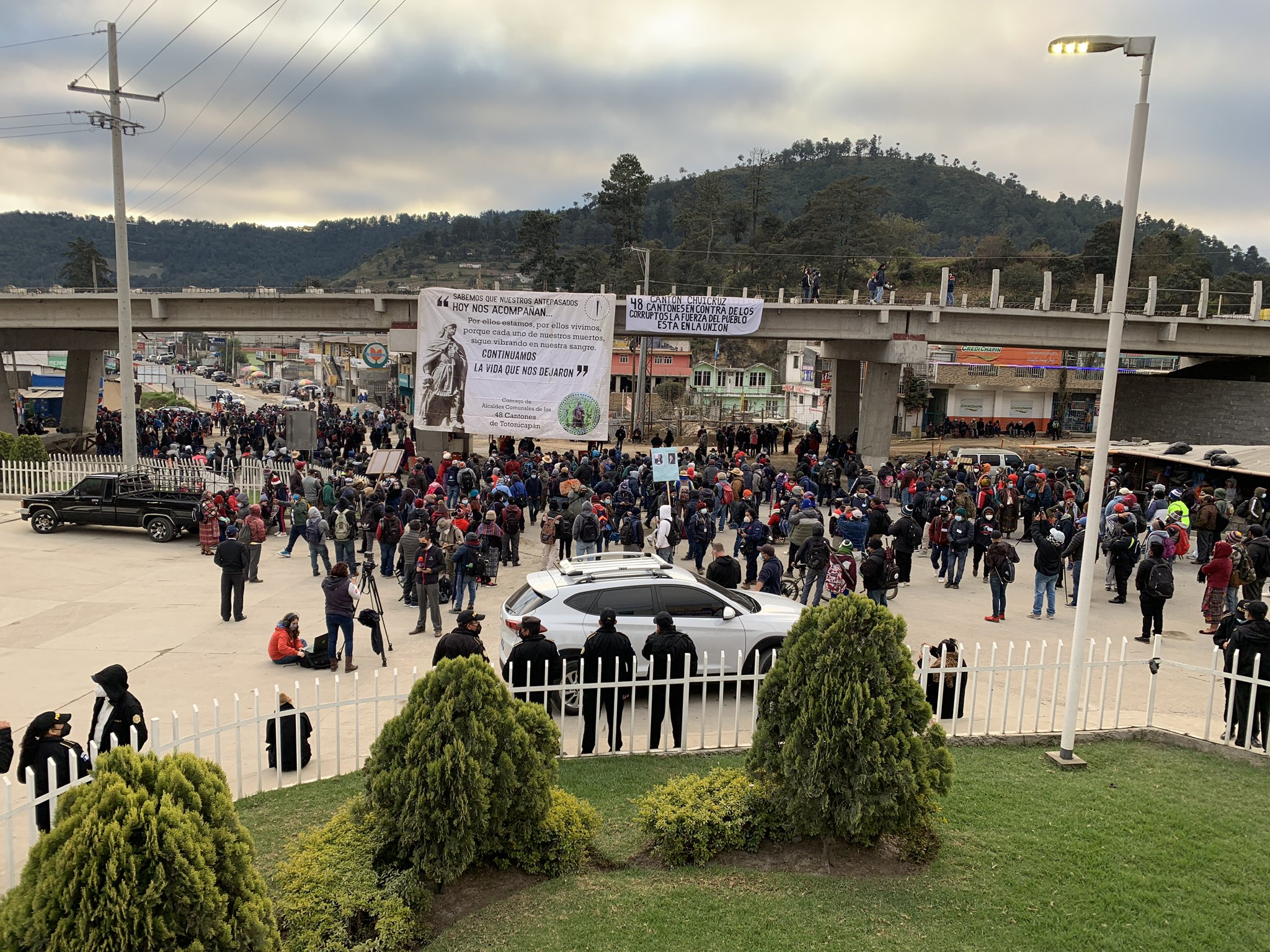 manifestación de los 48 Cantones de Totonicapán