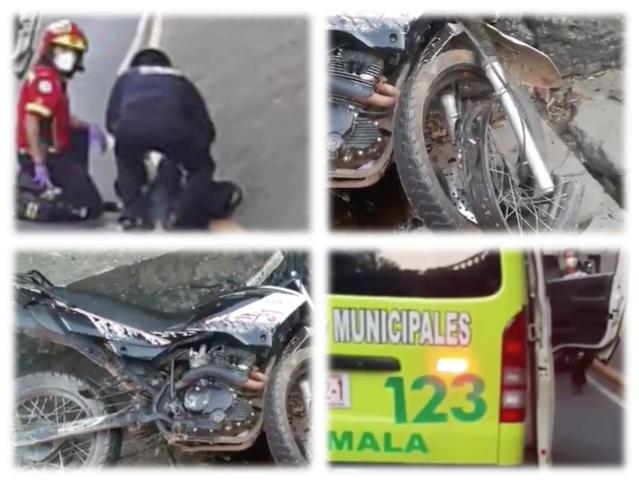 Motorista pierde la pierna tras accidente de tránsito en zona 3