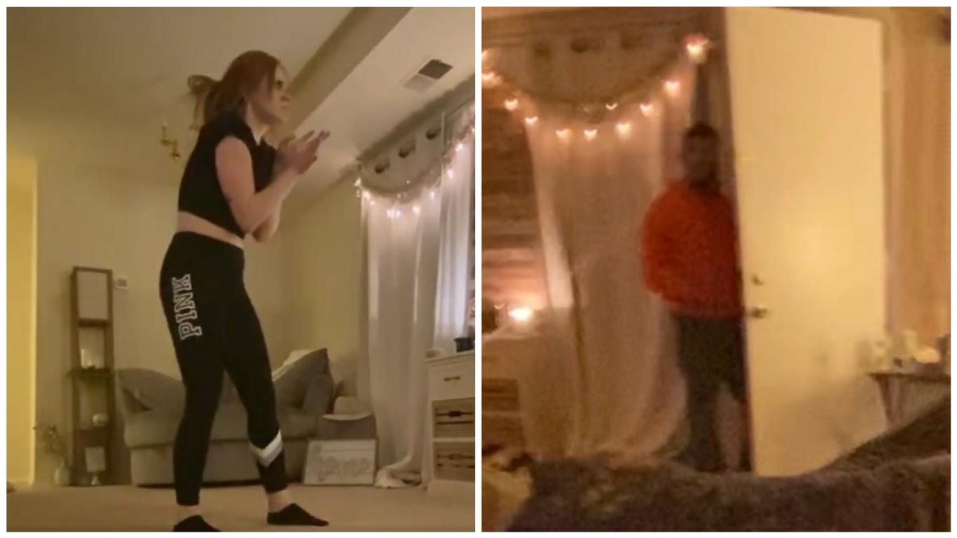 """Chica """"tiktoker"""" graba el momento en que un intruso irrumpe en su apartamento"""