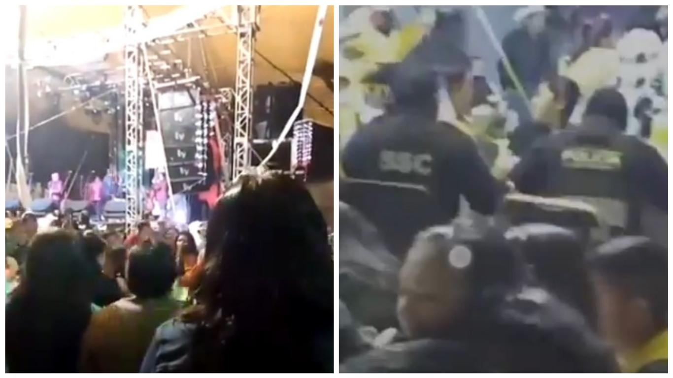 VIDEO. Policías llegaron a fiesta para cancelarla, pero se quedaron a comer