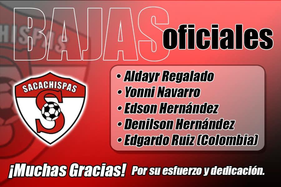 Las bajas confirmadas de Sacachispas para el Clausura 2021