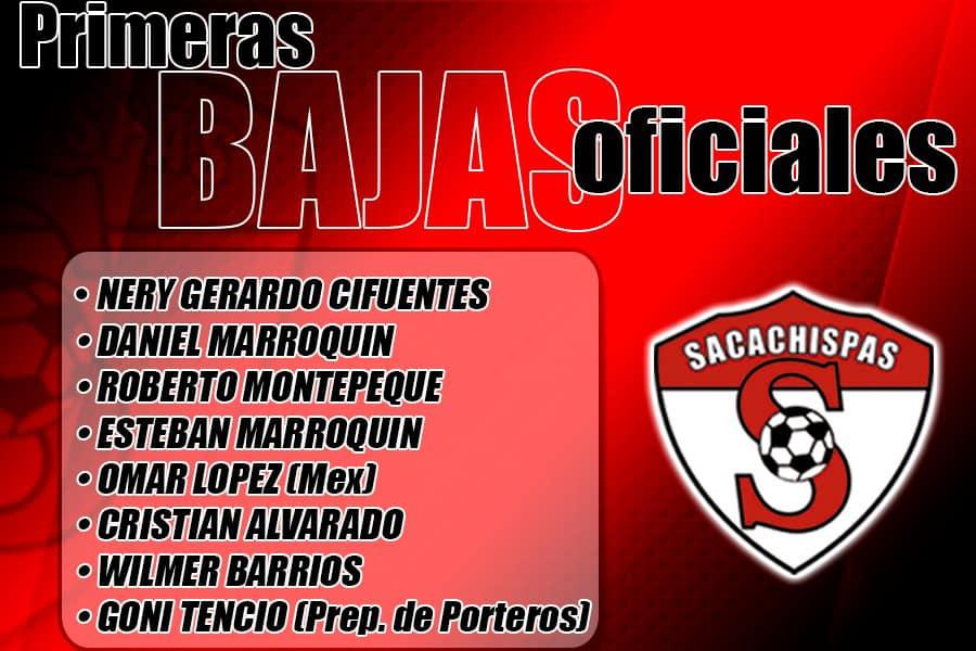 Las bajas de Sacachispas para el Torneo Clausura 2021