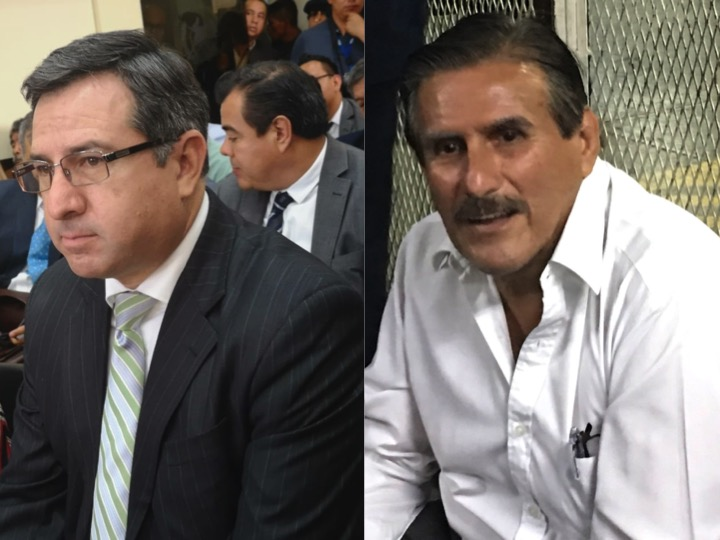 """Luis Fernando Pérez y Roberto Kestler, exdiputados, esperan saber si enfrentarán juicio por el caso """"Asalto al Ministerio de Salud""""."""