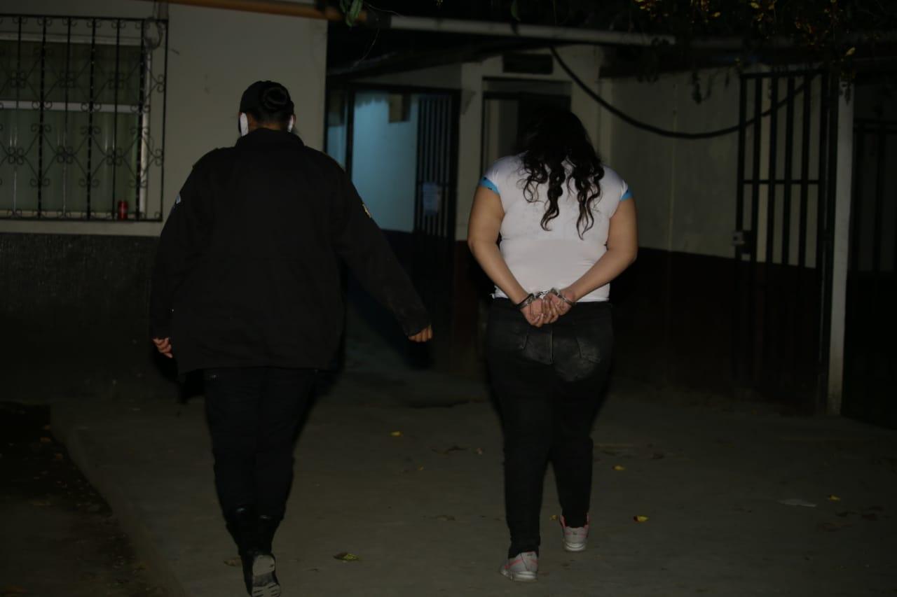 PNC captura a Lesli Marisol Menéndez Hernández.