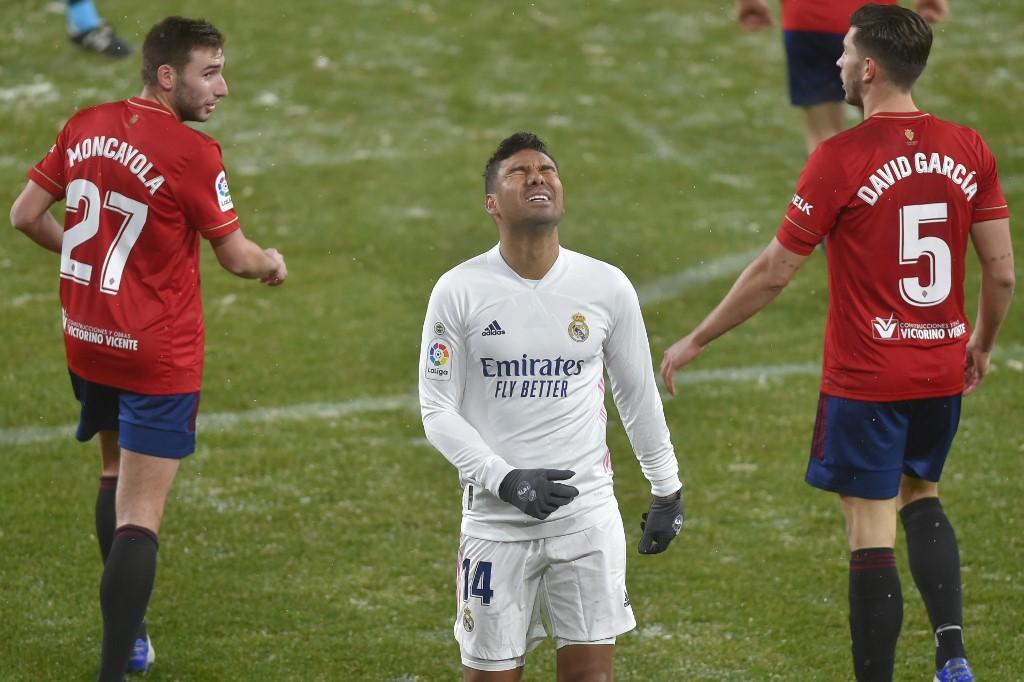 Real Madrid empata en su visita a Pamplona