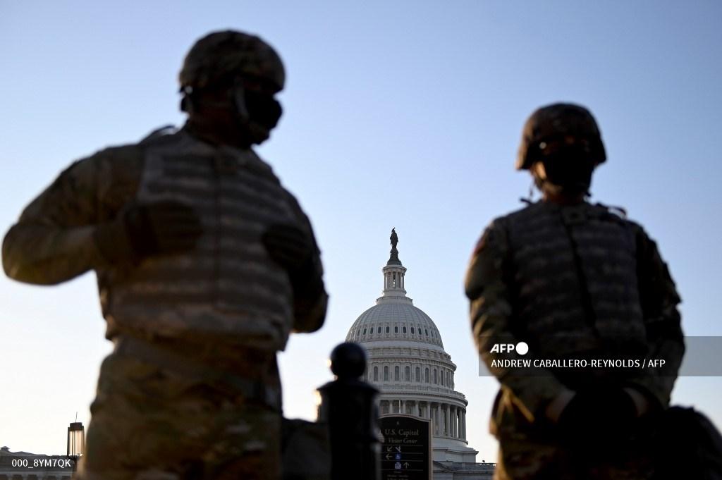 Miembros de la Guardia Nacional en Washington