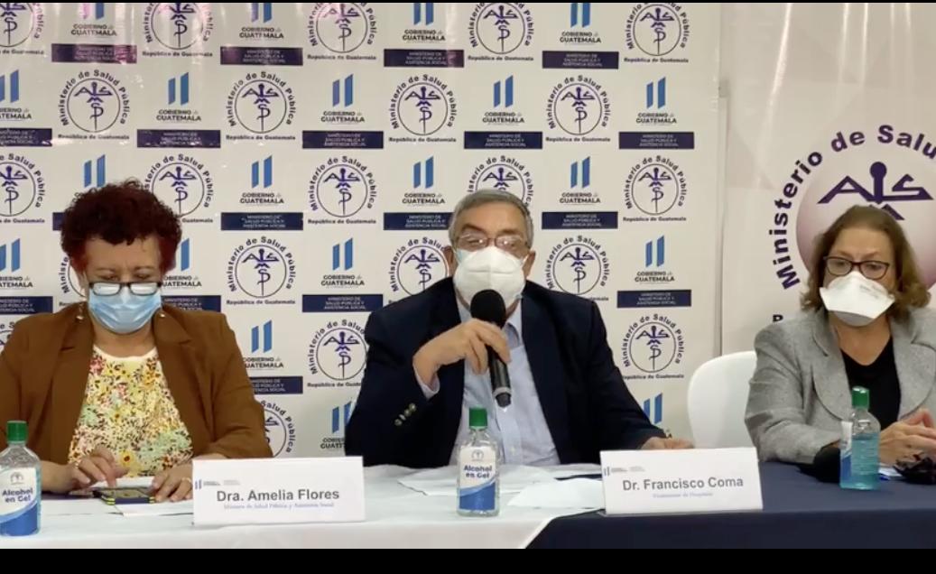 conferencia de autoridades del Ministerio de Salud sobre pandemia Covid-19