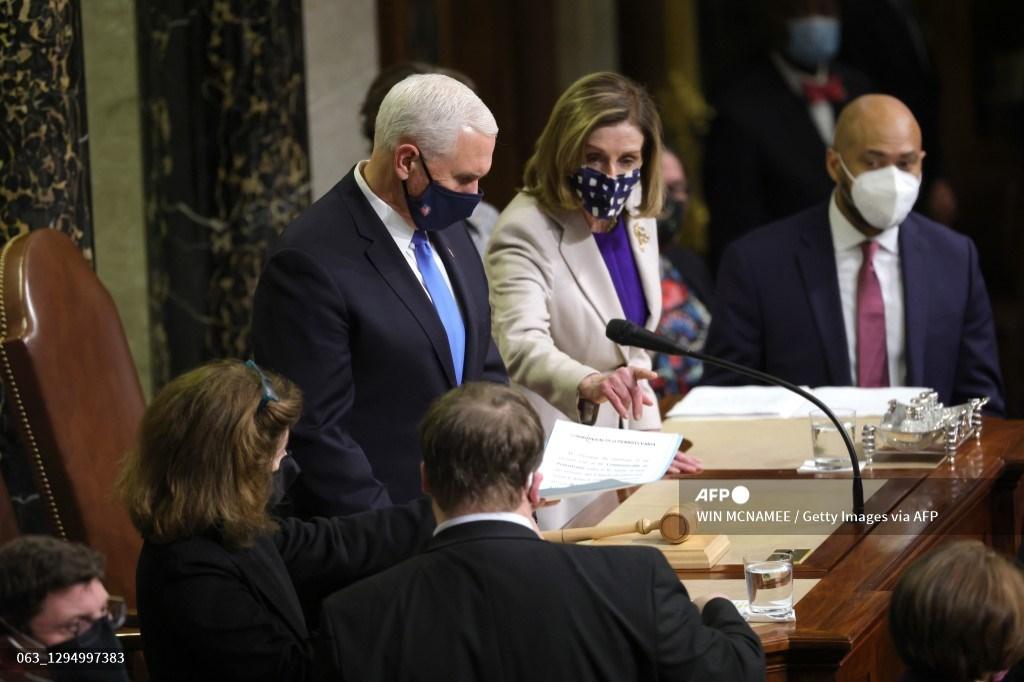 Congreso de Estados Unidos certifica victoria de Joe Biden