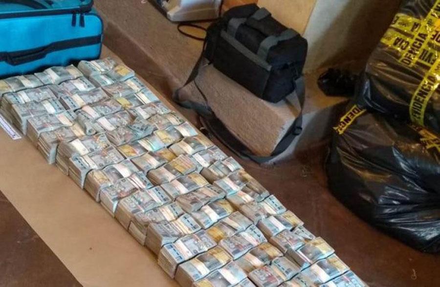Dinero hallado en La Antigua Guatemala