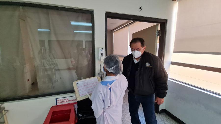 El director ejecutivo del San Juan de Dios supervisa el Capere