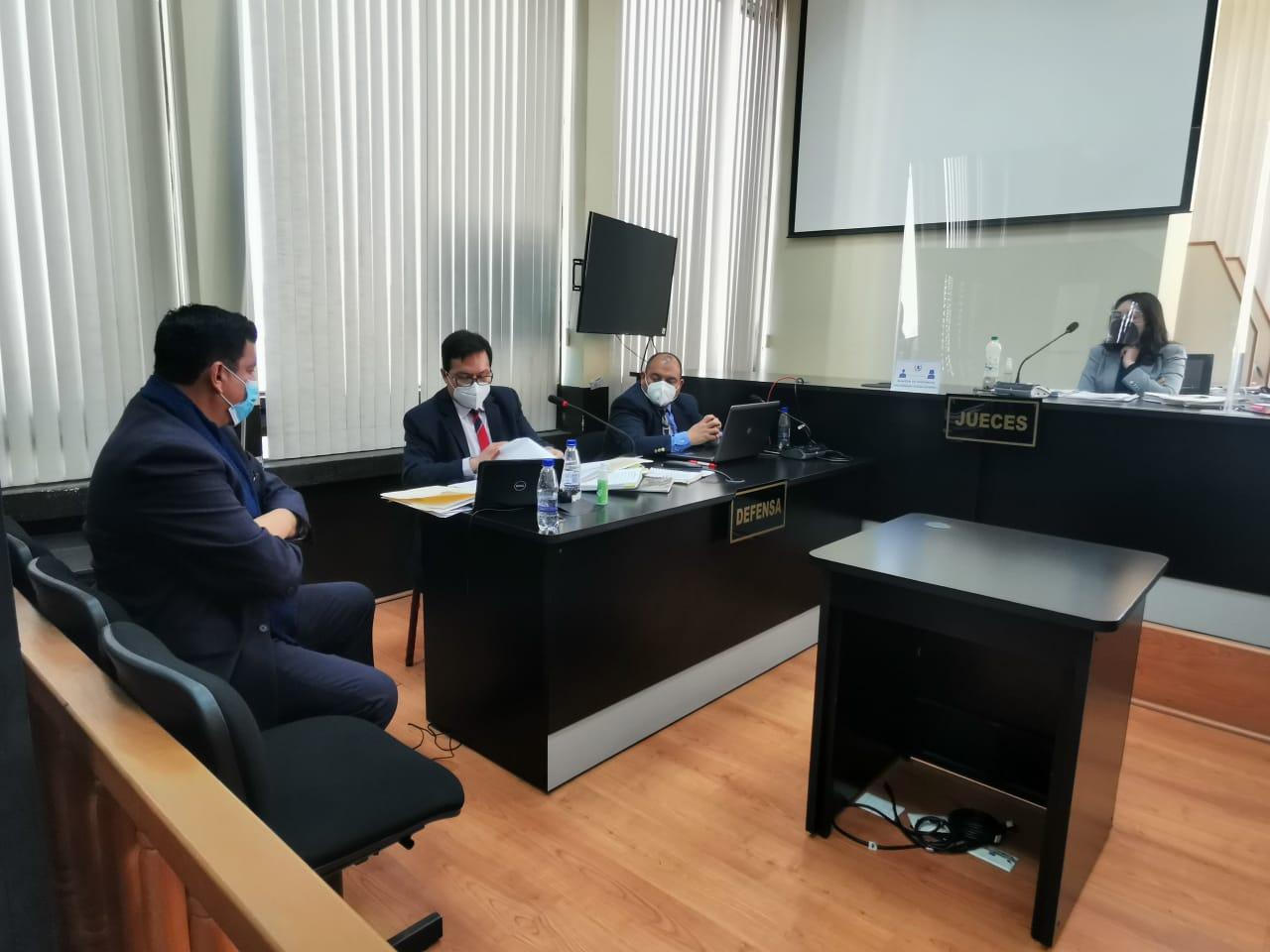 exdiputado Estuardo Galdámez en audiencia del caso Asalto al Ministerio de Salud
