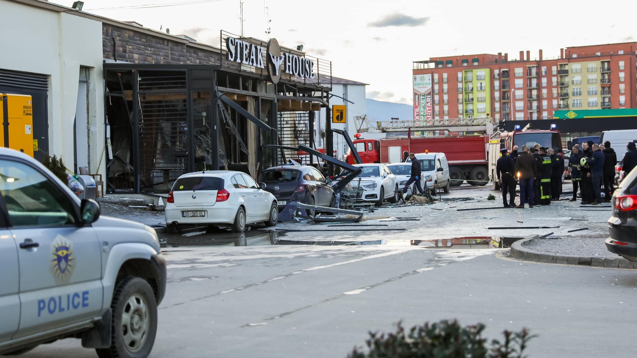Explosión de cilindro de gas en Kosovo