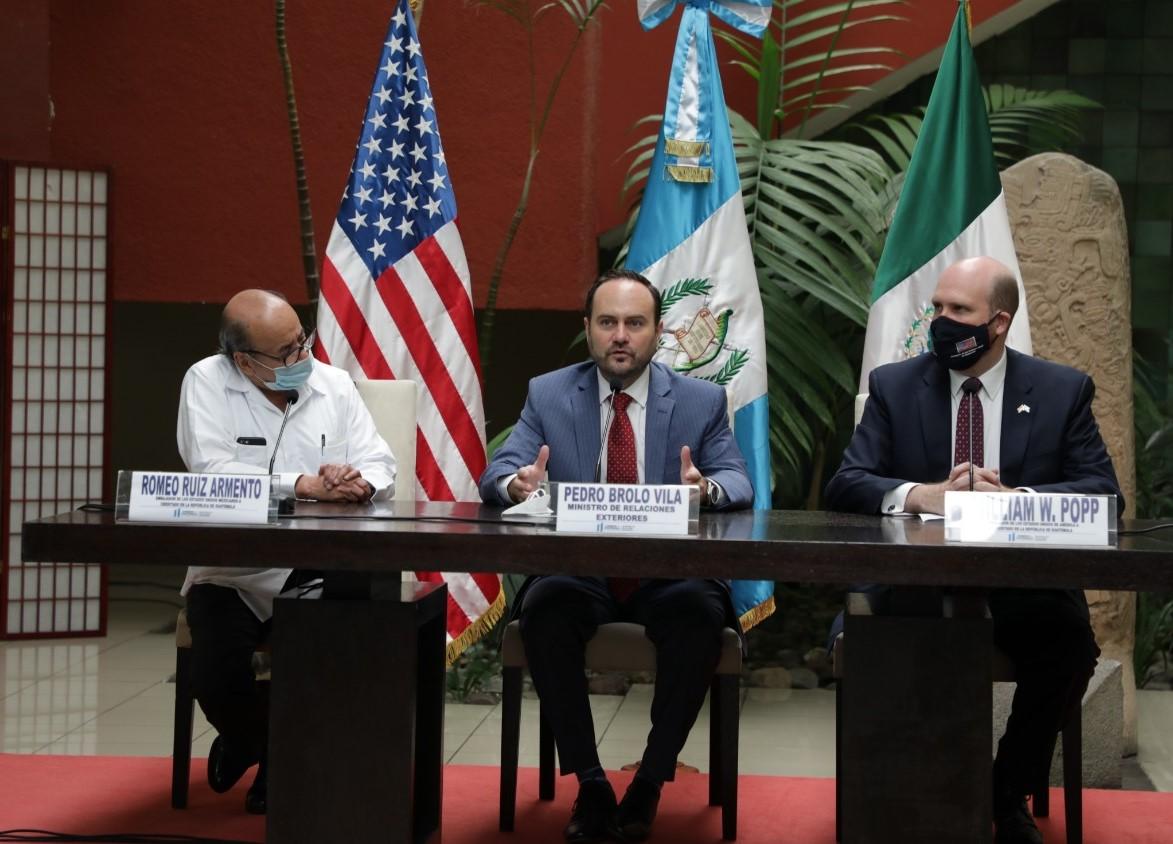 Guatemala, México y EE. UU. hacen declaración conjunta ante caravanas de migrantes