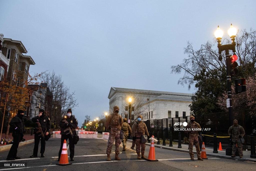 Seguridad en Washington, cerca del Capitolio