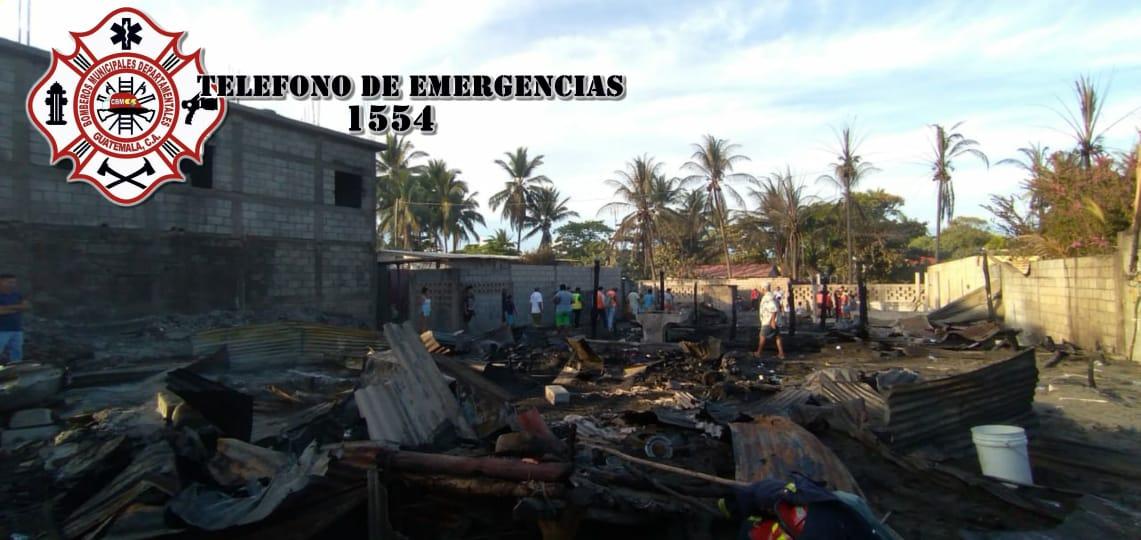 incendio en playas Las Lisas, Chiquimulilla, Santa Rosa