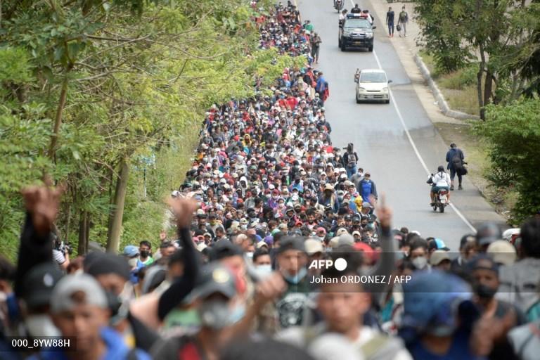 Migración de hondureños hacia Estados Unidos.