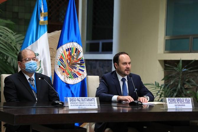 Canciller de Guatemala expone solicitudes de cooperación a la OEA