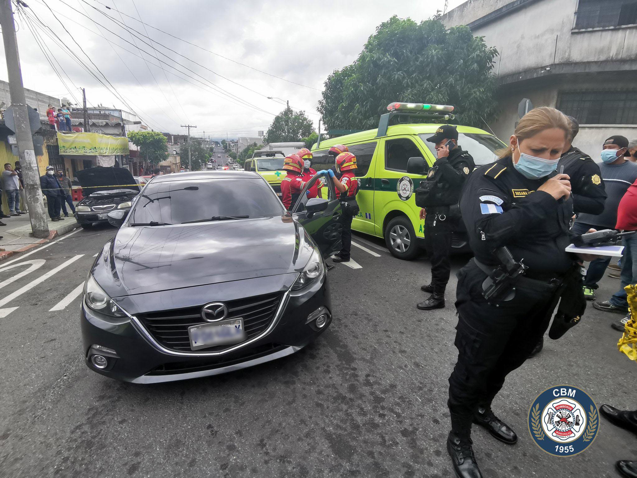 Conductor de vehículo muere tras ataque armado en zona 12