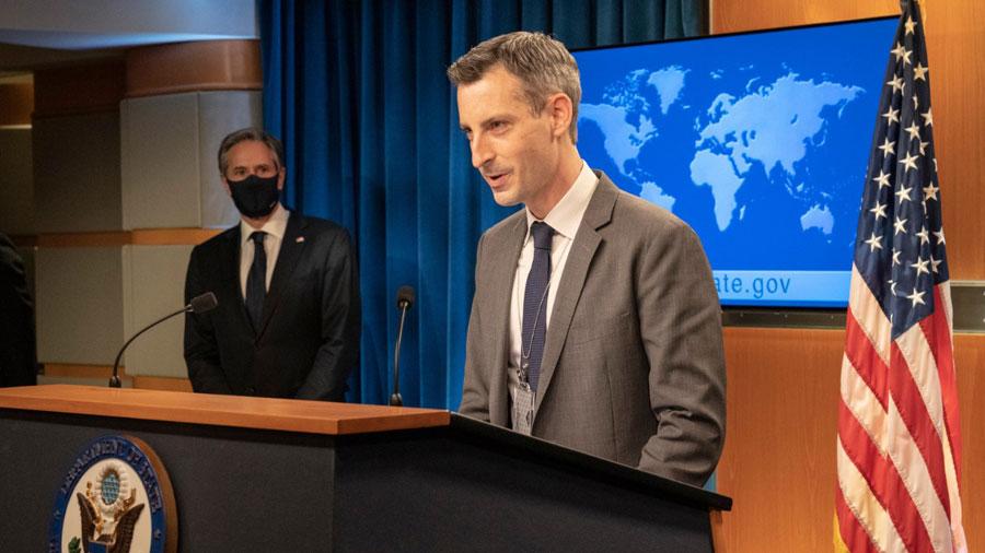 Ned Price, vocero del Departamento de Estado de los Estados Unidos