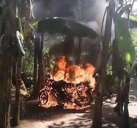 Queman vivienda de implicado en asesinato de niña en Escuintla