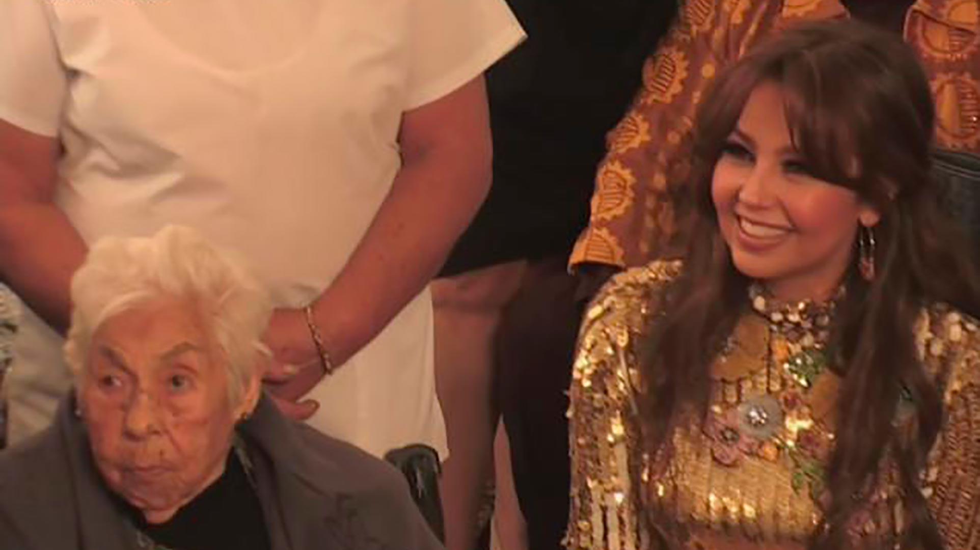 Thalía y abuelita