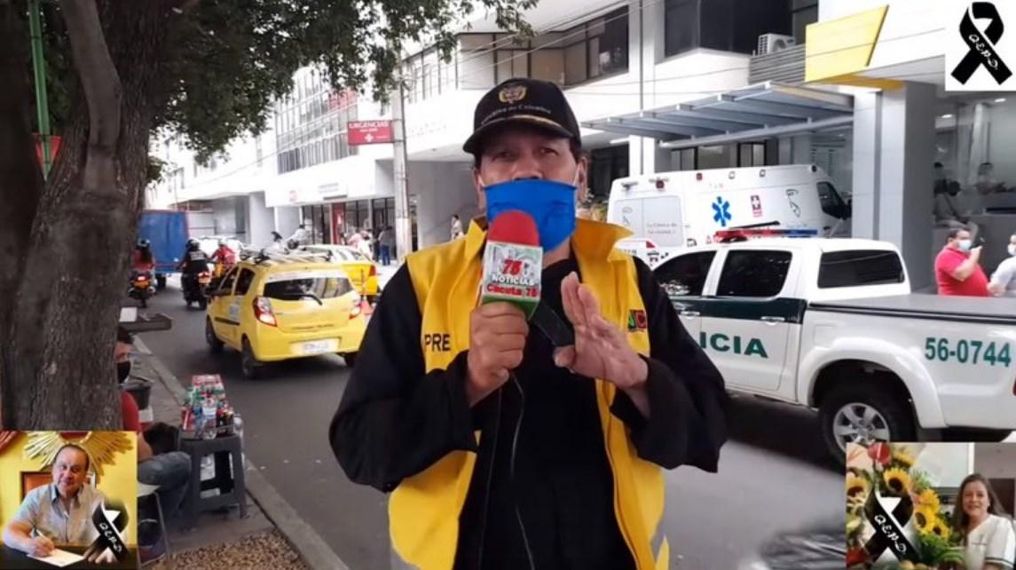 Reportero se entera en plena transmisión que su esposa murió por Covid-19