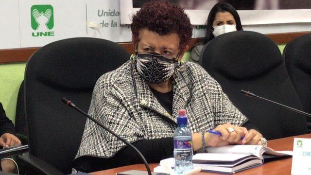 Ministra de Salud, Amelia Flores.