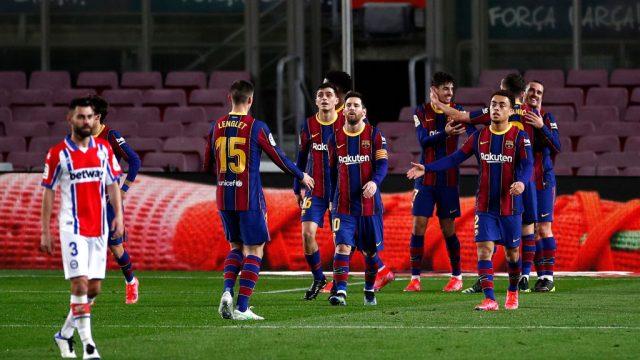 Barcelona golea al Alavés