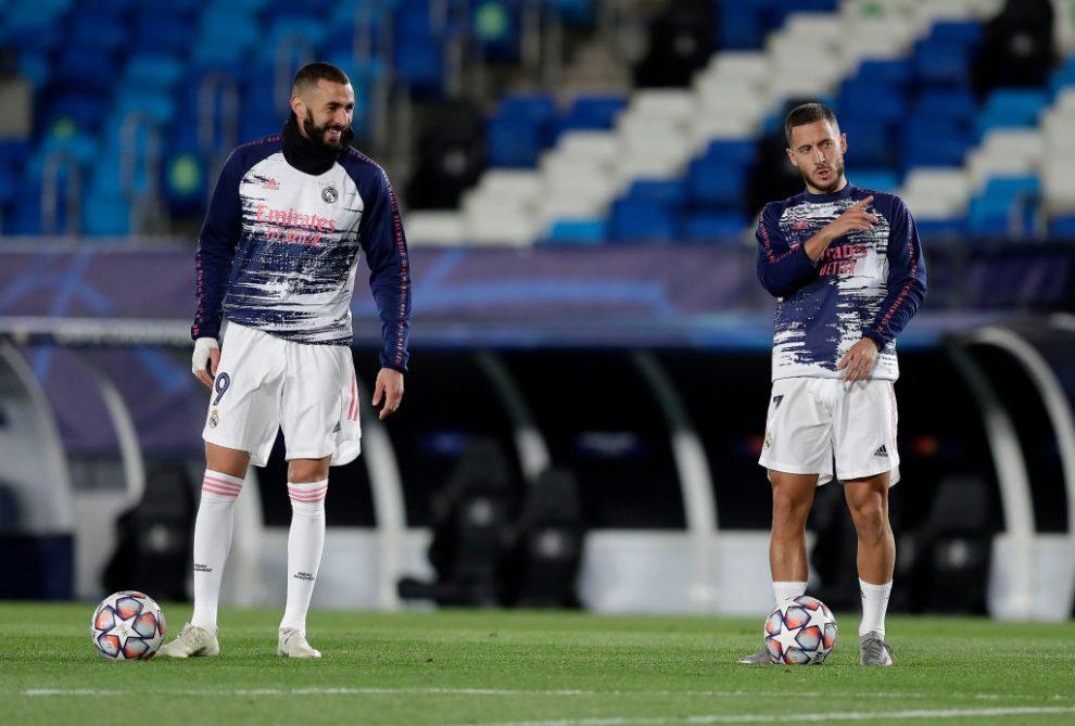 Zidane habla de las lesiones de Hazard y Benzema