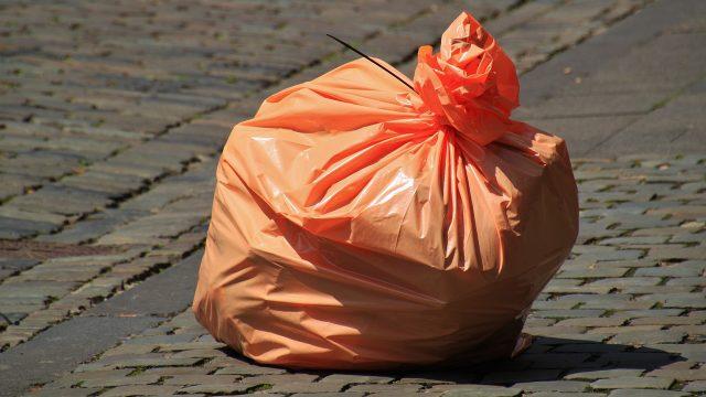 Bolsa con basura
