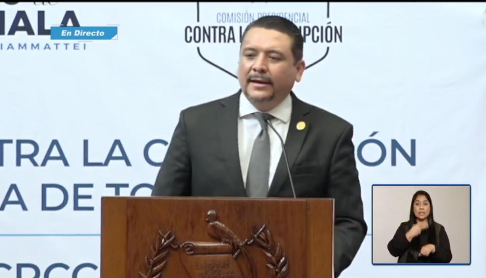 Oscar Dávila, titular de la Comisión Presidencial contra la Corrupción