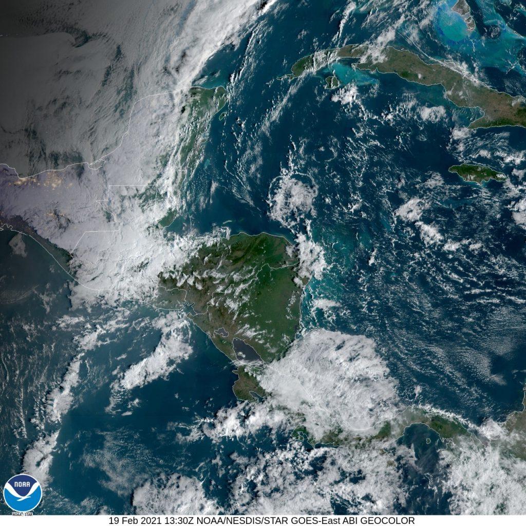 frente frío en Guatemala, febrero 2021
