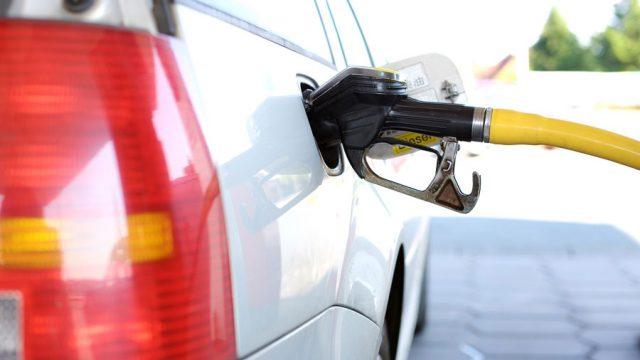 Gasolina en un vehículo