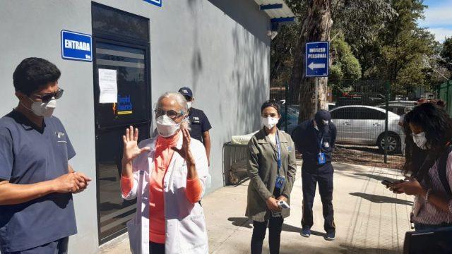 Hospital Roosevelt realiza simulacro de vacunación contra el Covid-19