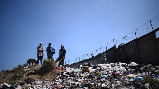 incendio en vertedero de basura de Villa Nueva