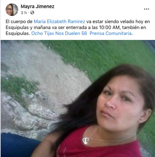 asesinan a María Ramírez, madre de víctima del incendio en el Hogar Seguro