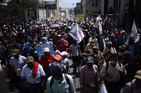 manifestación de Codeca llega a la zona 1
