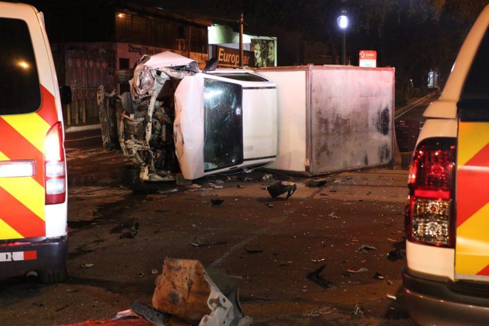 Mujer muere por accidente de tránsito en zona 9