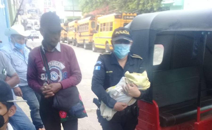 Recién nacido es abandonado en Huehuetenango
