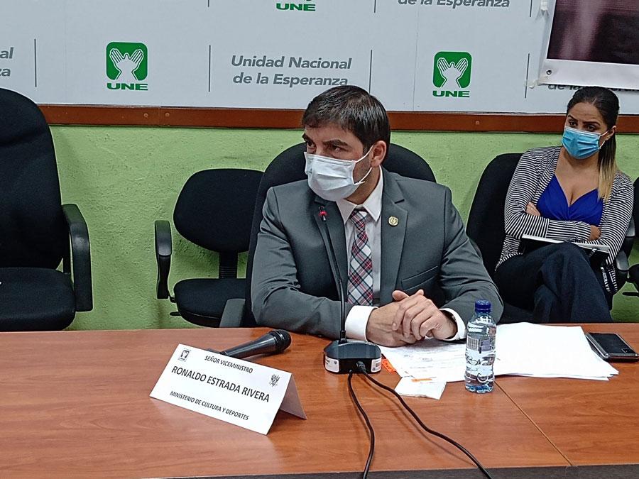 Ronaldo Estrada, viceministro de Cultura y Deportes