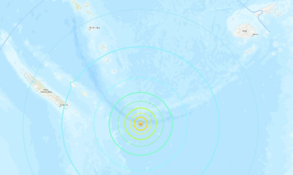 Sismo en el sur del Pacífico