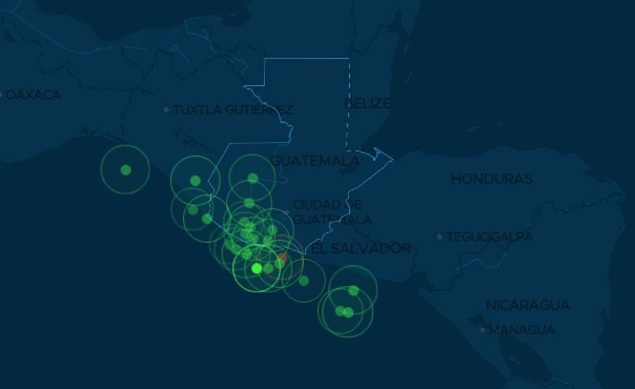 Temblores en Guatemala el 6 de febrero de 2021