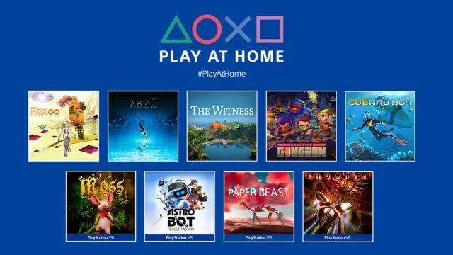 Juegos gratis de PlayStation con la iniciativa Play at Home