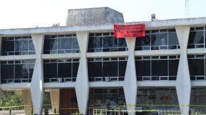 Autoridades de la Universidad de San Carlos (Usac) denuncian robo en la Rectoría.
