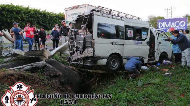 accidente de tránsito en Coatepeque, Quetzaltenango