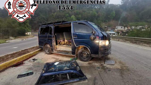 accidente en Km. 90.6 de ruta Interamericana