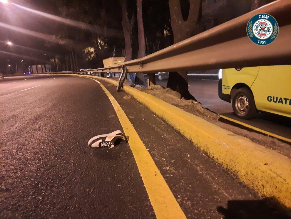 accidente de motocicleta en anillo Periférico