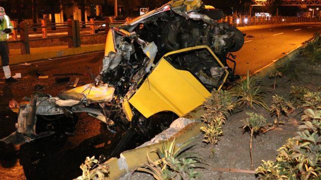accidente de tránsito en el Periférico